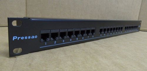 Pressac Press-Link 24 Port CAT5e High Density Ethernet Patch Panel 1U